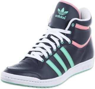 Adidas Top Ten Hi Sleek W Schuhe blau grün | Style sportif