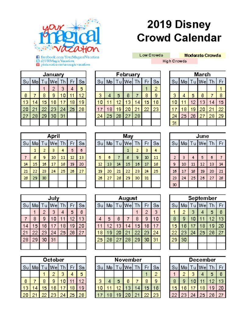Disney World Crowd Calendar Disney World Crowd Calendar Disney