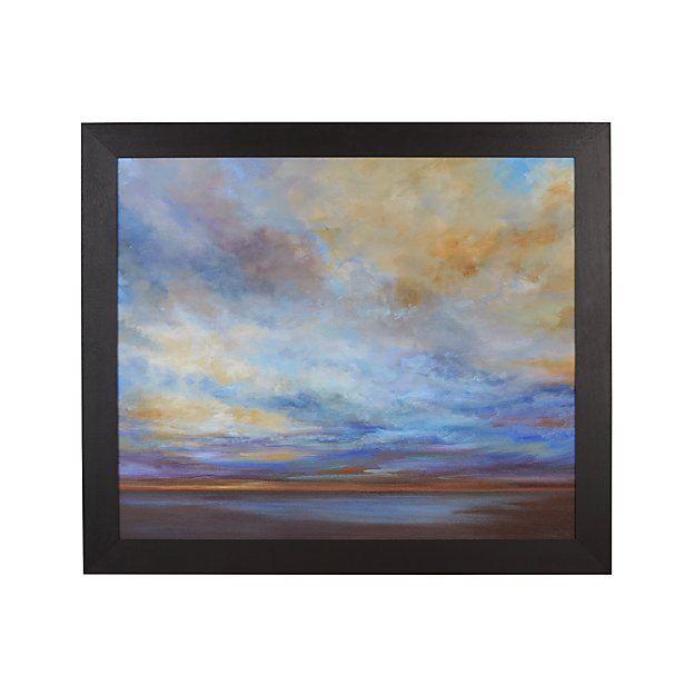 Coastal Clouds Print Sunset Wall Art Wall Prints Crate And Barrel