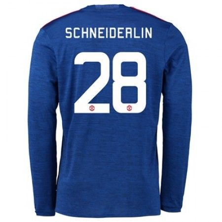 Manchester United 16-17 Morgan Schneiderlin 28 Bortedraktsett Langermet.  http://www.fotballteam.com/manchester-united-16-17-morgan-schneiderlin-28-bortedraktsett-langermet.  #fotballdrakter