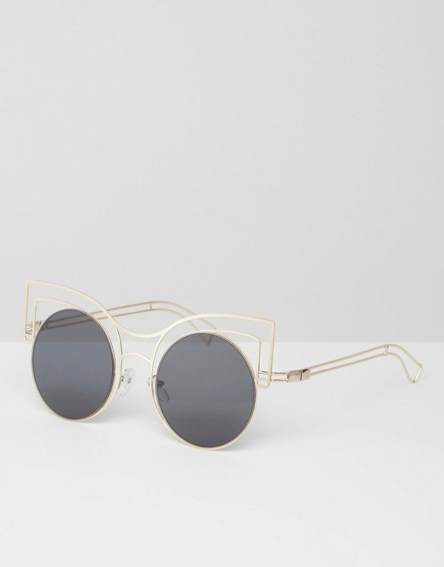 ASOS+Round+Kitten+Sunglasses+In+Skeleton+Wire+Frame | Buyit ...