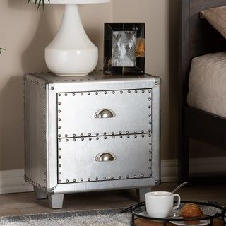 French Industrial 2-Drawer Nightstand | Overstock.com Shopping - The Best Deals on Nightstands #frenchindustrial