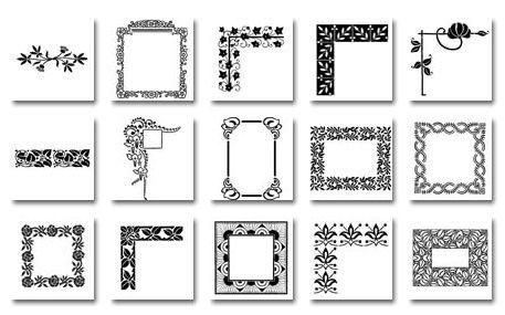 إطارات للزخرفة يحتاجها المصمم بدقة لا نهائية ملحقات التصميم Butterfly Clip Art Frame Clip Art