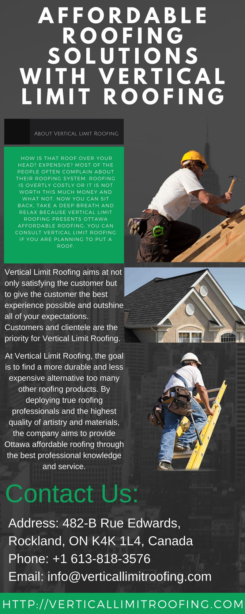 Verticallimitroofing Is A Roof Repair Company In Ottawa Area And We Provide Top Quality Residential Roof Repair And Full Roof Repair Affordable Roofing Roofing