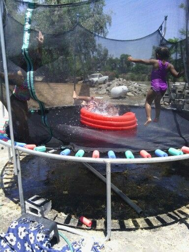My sister safe proofed the springs and got a pool today!