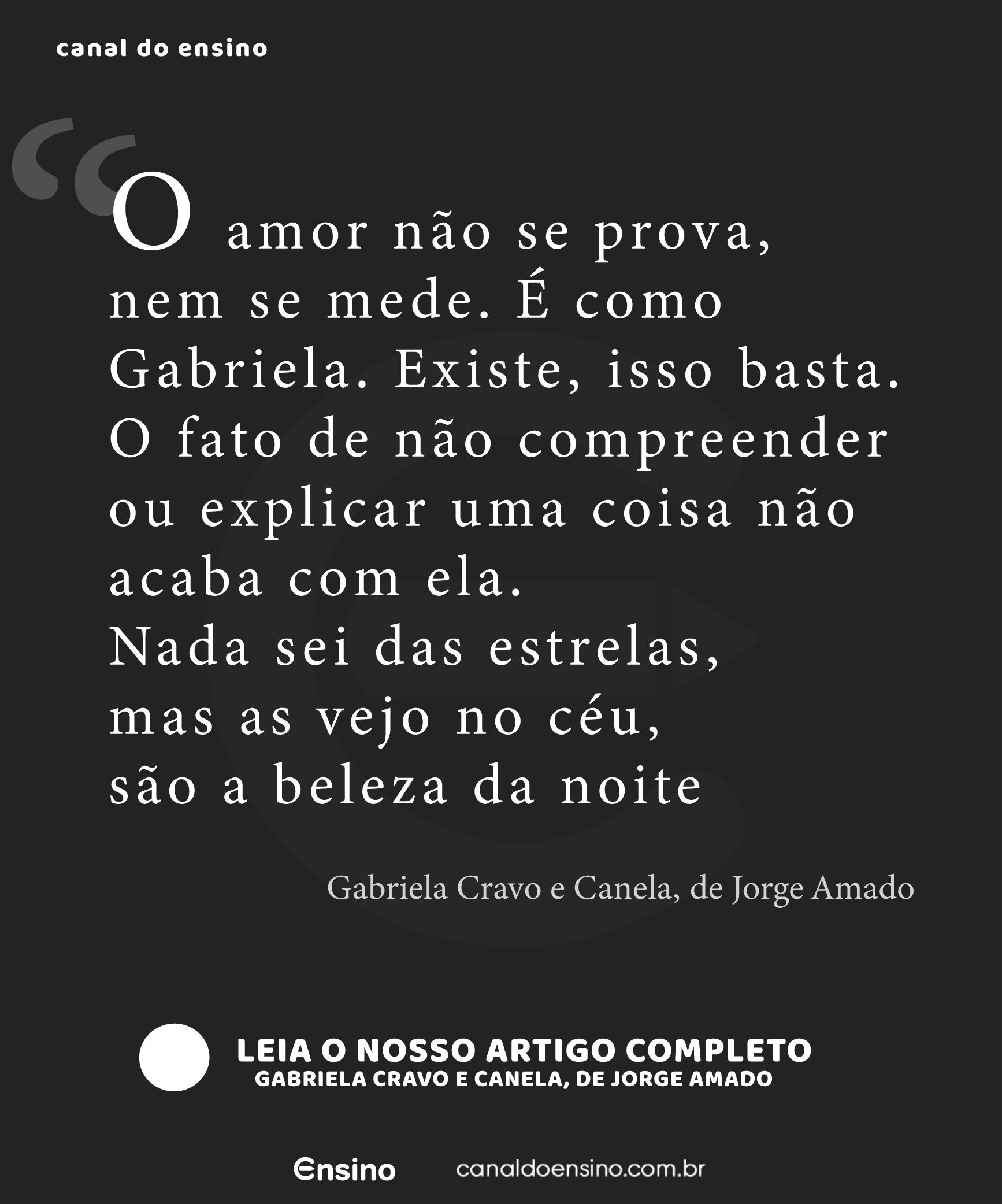 Gabriela Cravo E Canela De Jorge Amado Gabriela Cravo E