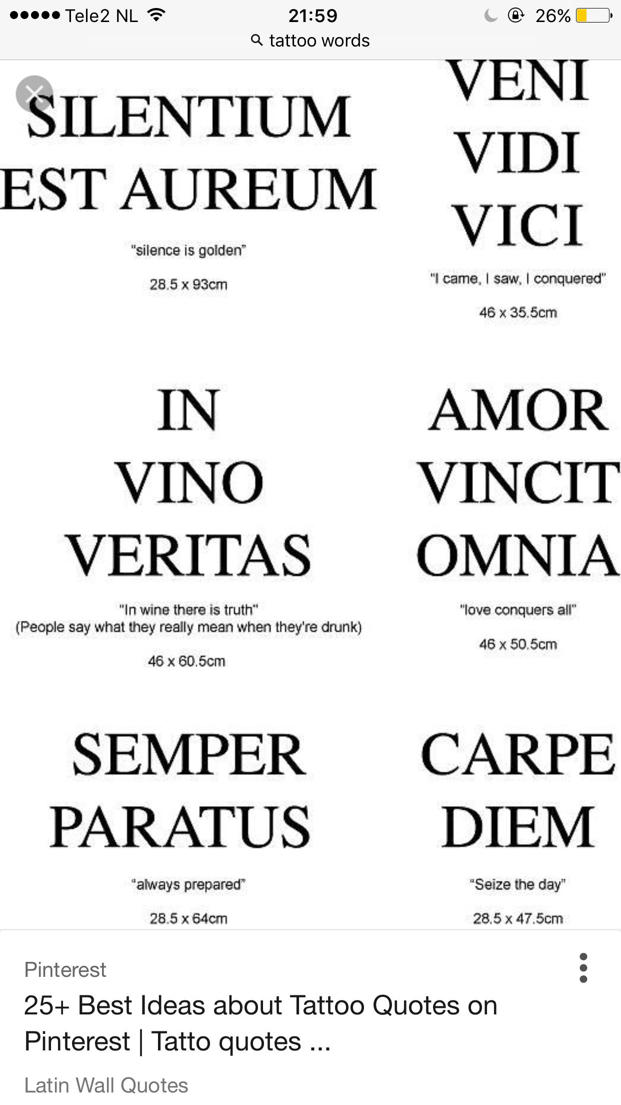 Verrassend Pin van Annebel Visscher op Tattoos | Latijnse citaten KY-66