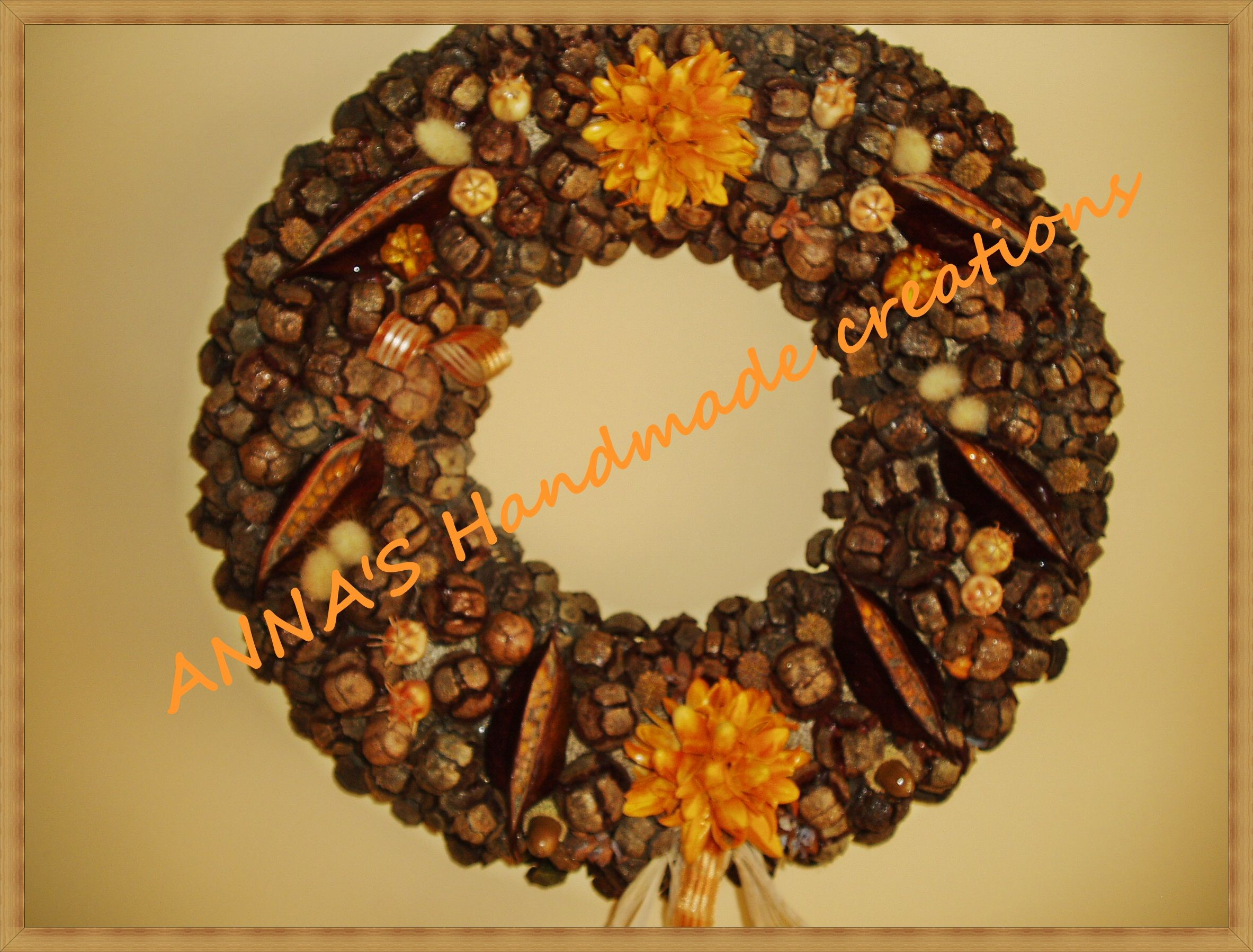 handmade wreath from   cypress cones