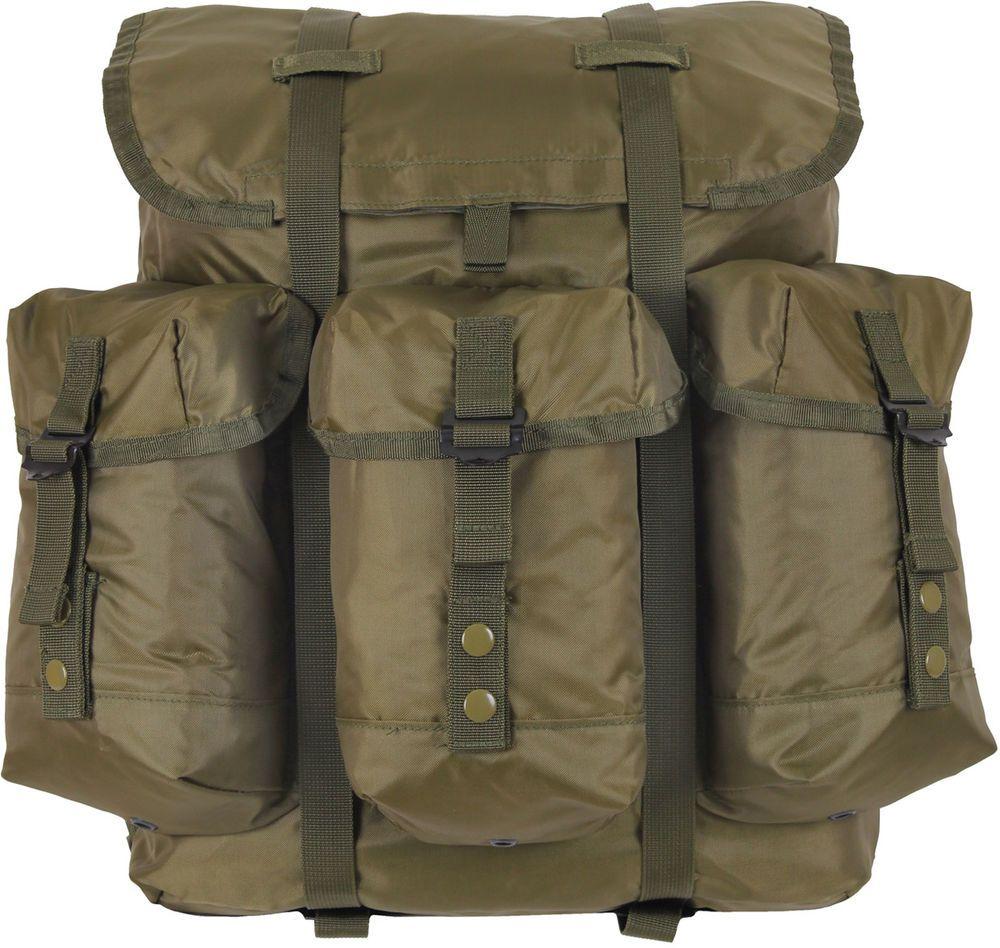 Alice Pack Medium Olive Drab Waterproof Military Backpack Kit Kidney Pad Frame Rothco Hiking Gear Backpack Leather Travel Hiking Bag