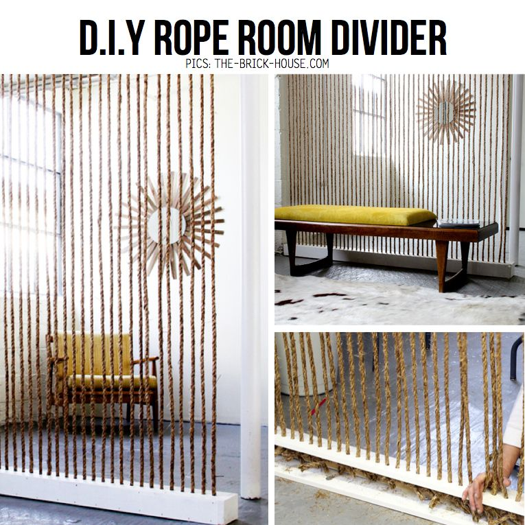 diy rope room divider, someday i'll have a place in which i can