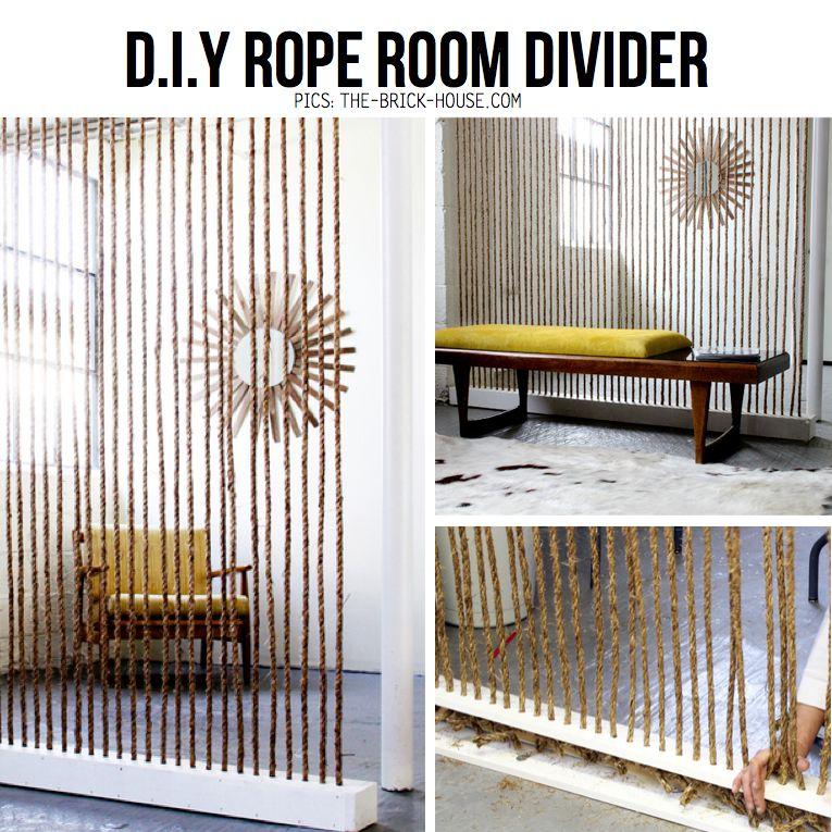 Diy Rope Hacks Diy Ideas Tutorials Diy Room Divider Modern