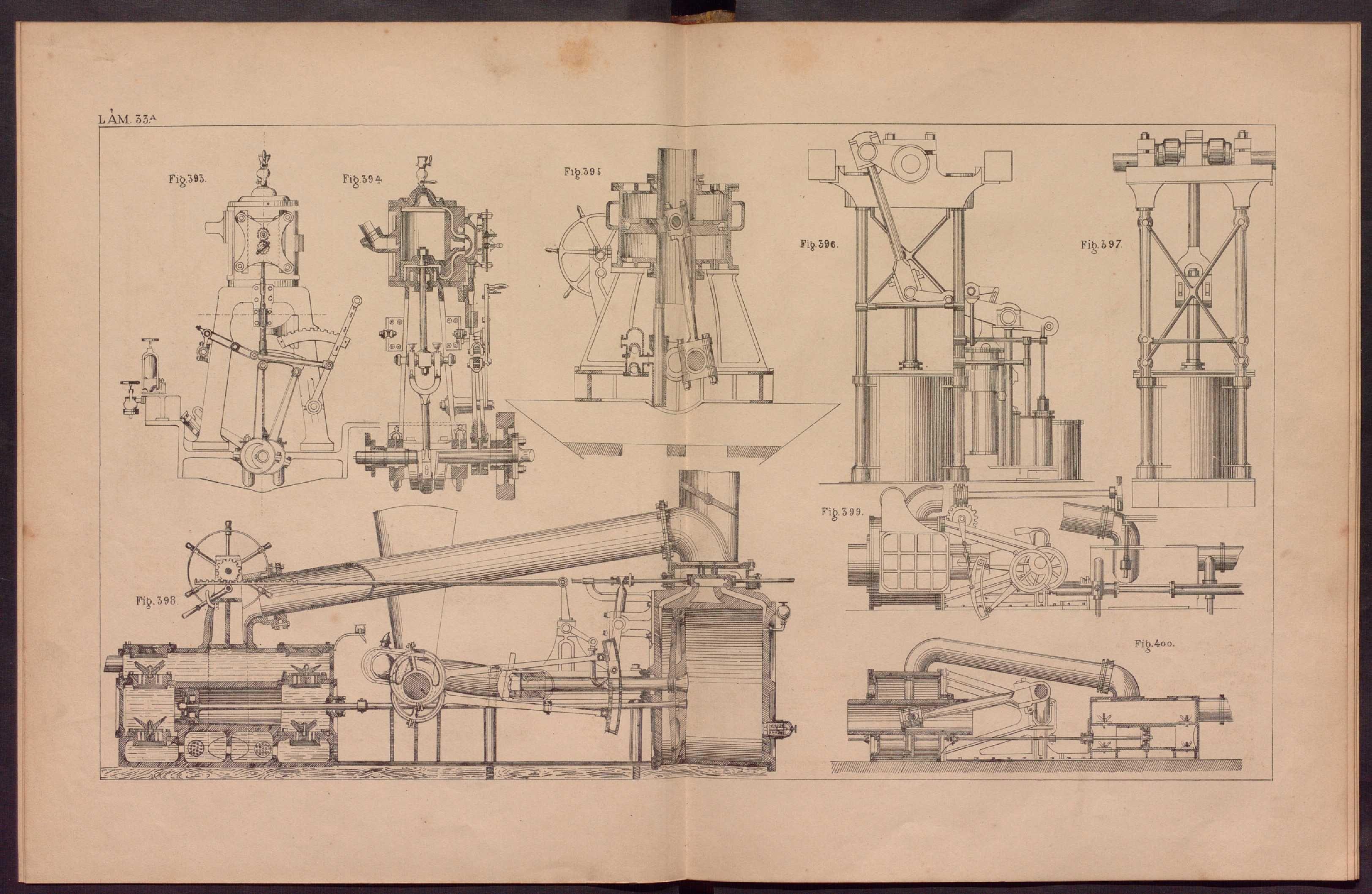 """Lámina 33 del Atlas – """"Catecismo de los maquinistas navales y terrestres"""" (1879-1881), de Santiago Barrera y Bodet."""