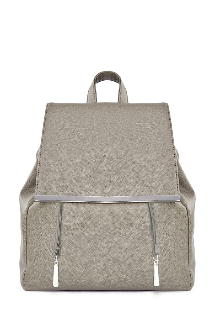 ShoeDazzle Bags William Backpack Womens Gray Size One Size Fits Most ... 3e15615fbd