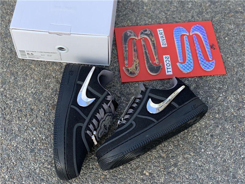 Nike Air Force 1 Low Travis Scott Black In 2020 Nike Air Force