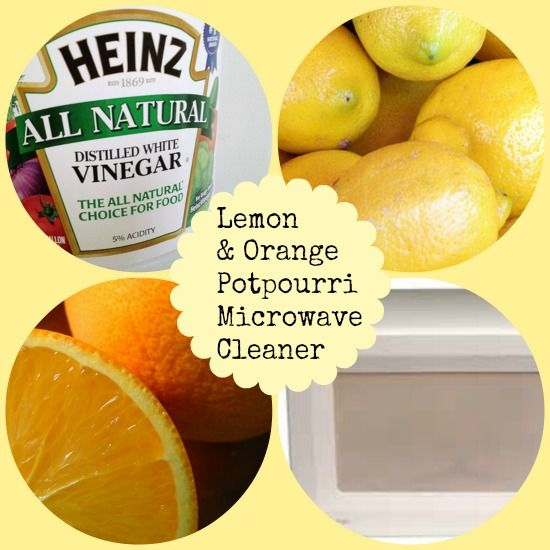 Cleaning A Microwave Oven With Lemon: Lemon, Orange And Vinegar Microwave Cleaner