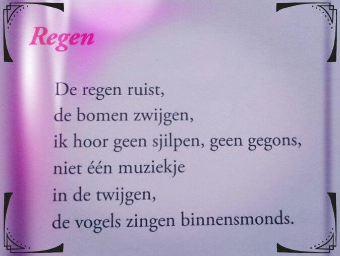 Gedicht Regen Toon Hermans Teksten Spreuken