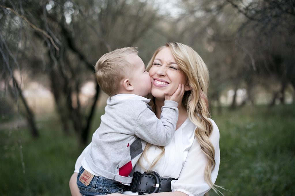 mom and son love kiss