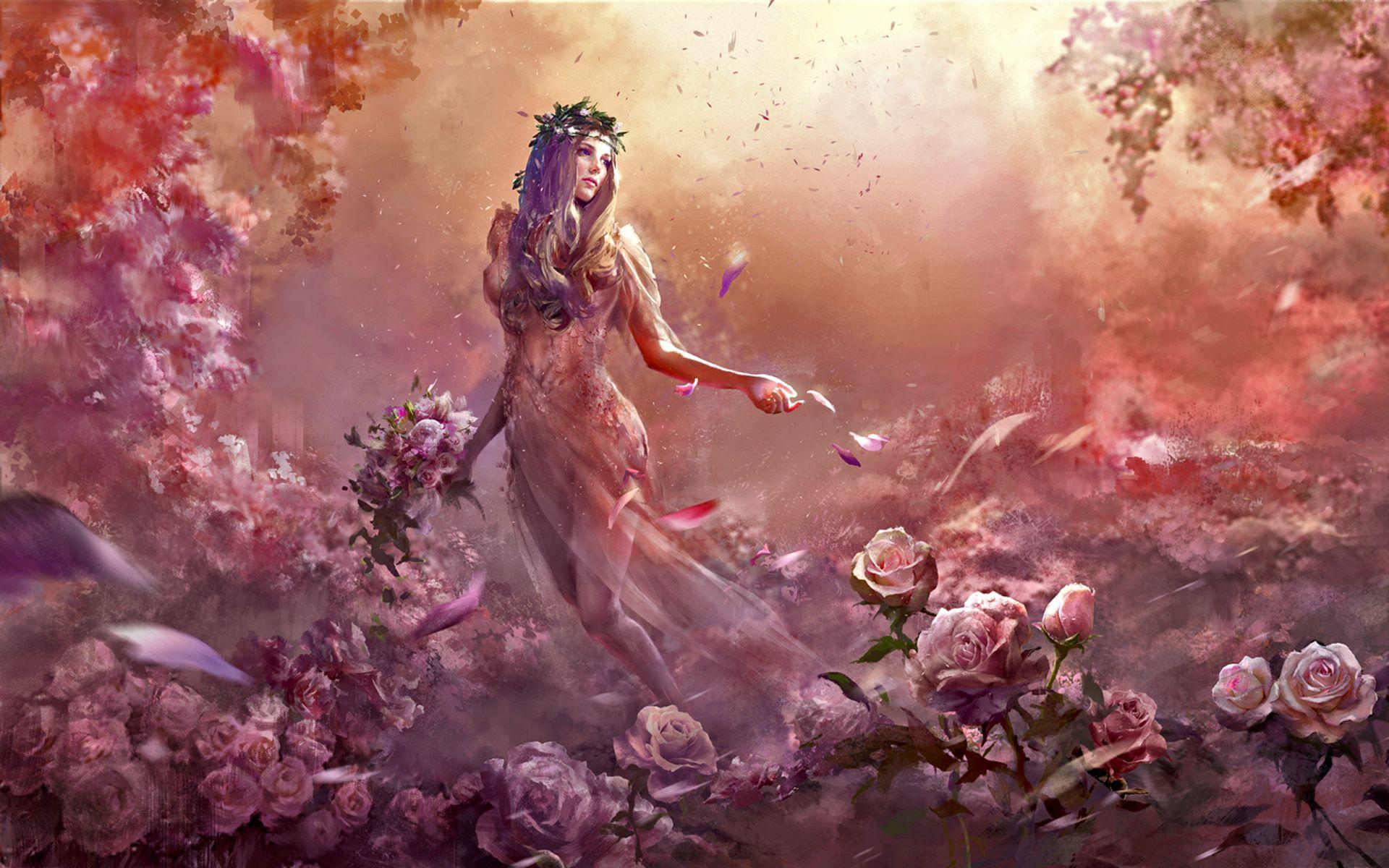 Flora Chloris Roman Goddess Of Flowers Fertility And Spring