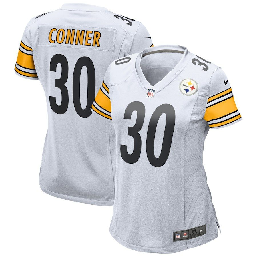 ed9868bc Women's Pittsburgh Steelers James Conner Nike White Game Jersey ...