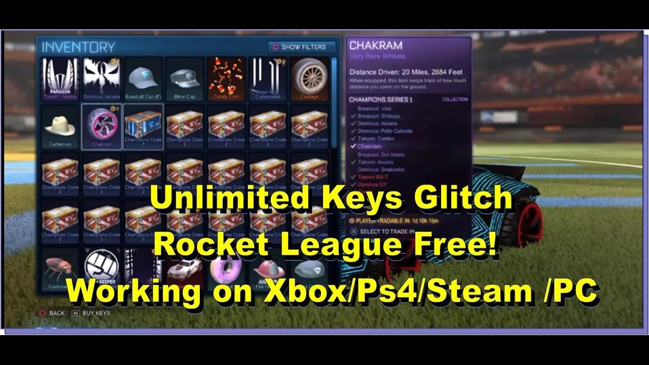 free key codes for rocket league
