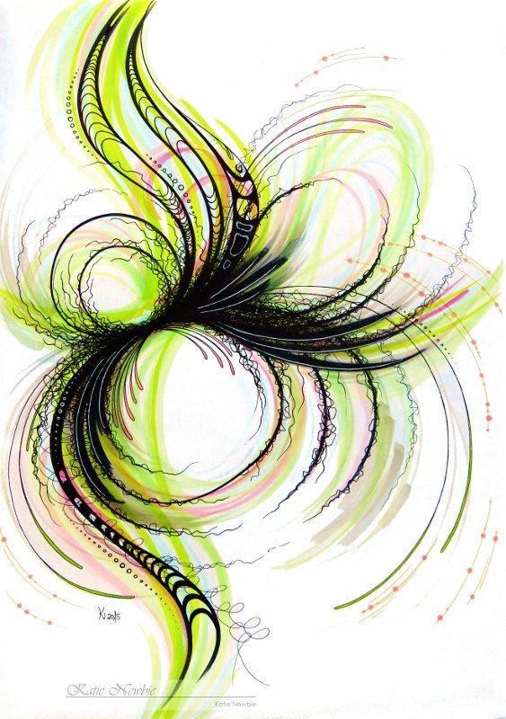 Linien II  gezeichnet von KNArtworks auf Etsy