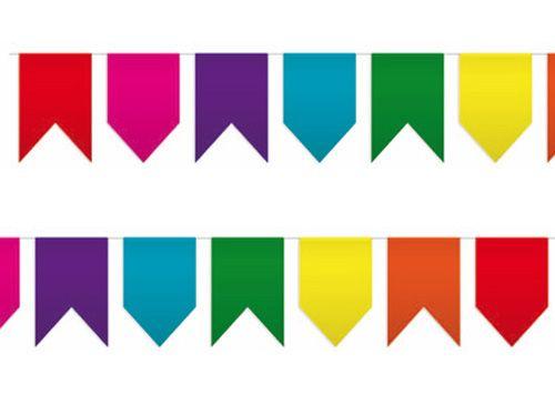 Diferentes formas de banderines para decorar fiestas - Formas de letras para decorar ...