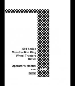 Best case ih 580ck diesel tractor operators manual
