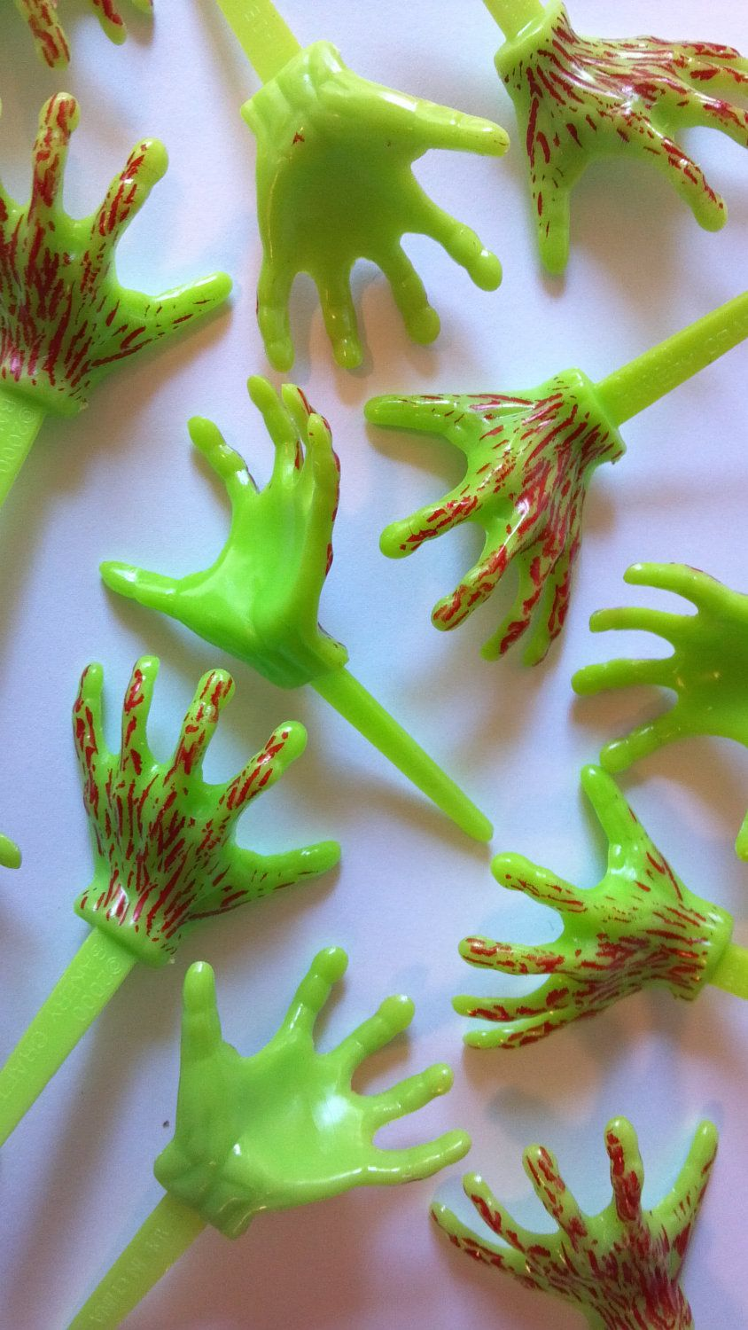 Zombie hands cupcake picks or cake toppers fun for bloody zombie or