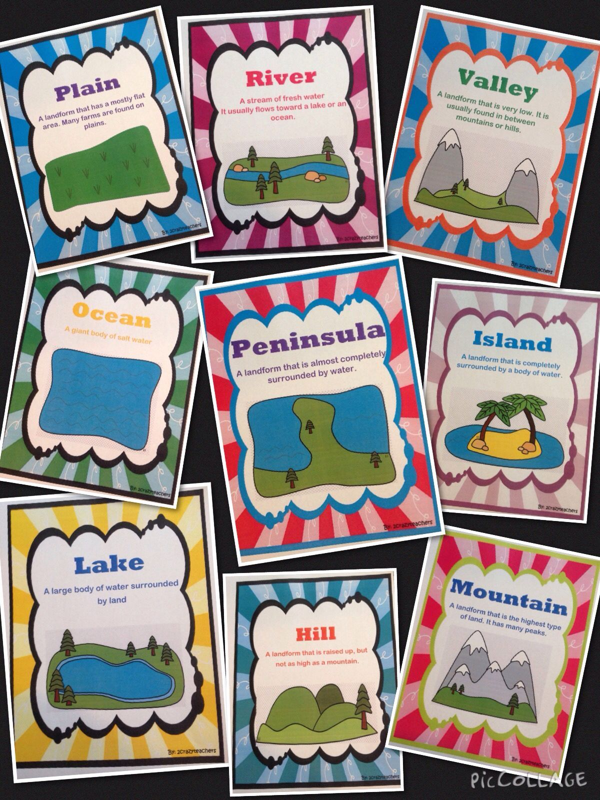 Landform Foldable And Activities Activities Foldable