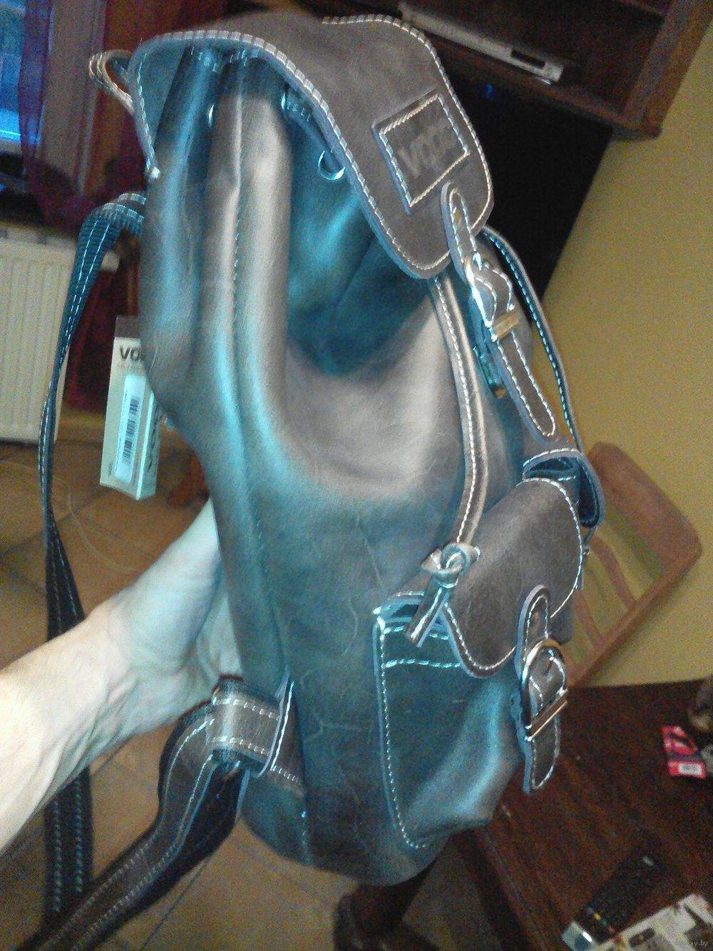 82d0ba09bef15 Plecak w stylu retro ze skóry naturalnej VOOC TC13 brąz. Skórzany plecak  VOOC w niepowtarzalnym stylu retro. Wykonany z naturalnej skóry Crazy Horse.