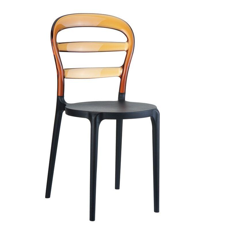 Chaise moderne en plexi et polypropylène - Miss Bibi - 4 Pieds : tables, chaises et tabourets