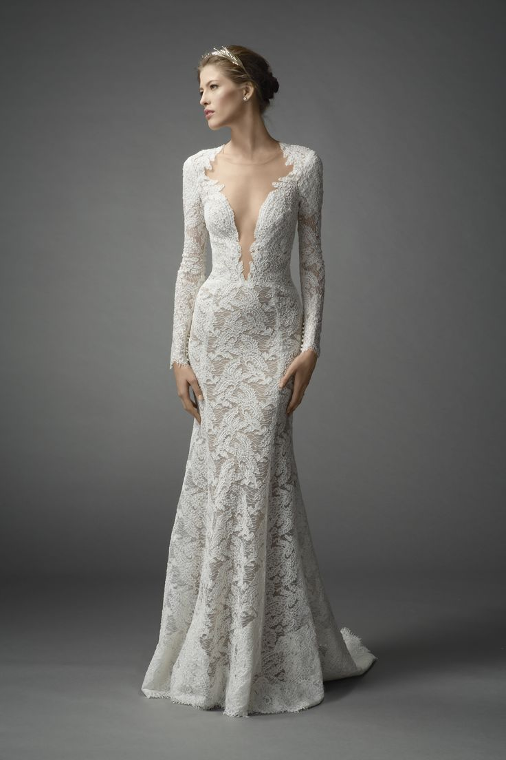Lace wedding dress with long sleeves wedding dress pinterest