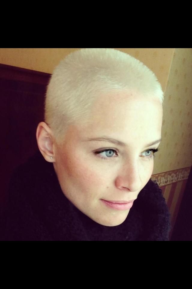 Platinum Buzz Cut Short Edgy Hair Style Ideas From Pixies To