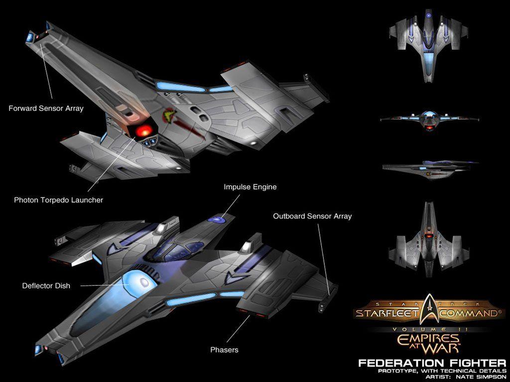 23rd Century Federation Fighter | Star Trek | Star trek