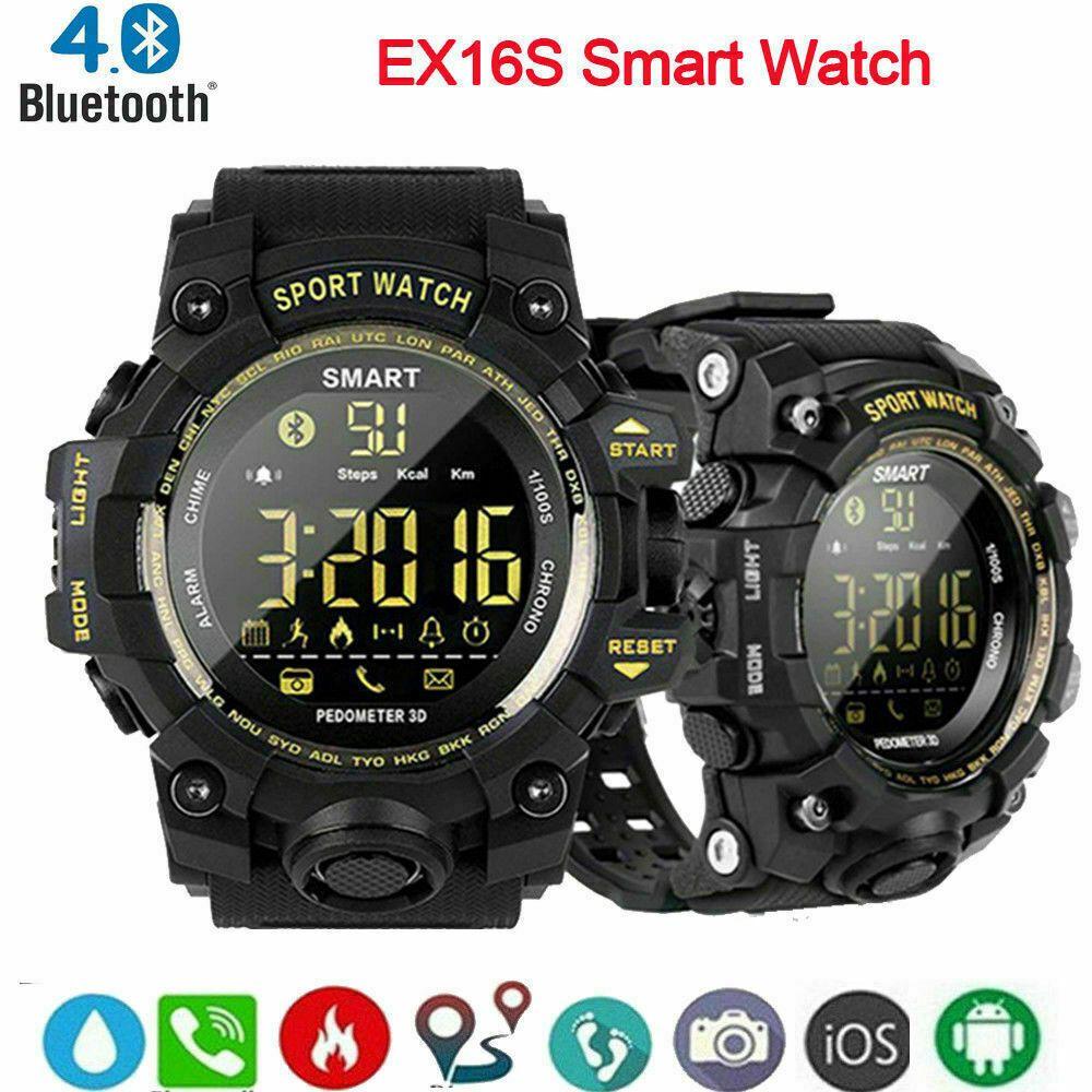 Man Military Tactical BT Smart Watch Fitness Tracker Sport Waterproof 50M - Fitness Watch - Ideas of...