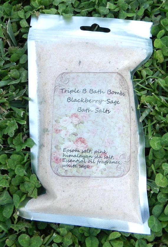 BlackberrySage Bath Salts by TripleBBathBombs on Etsy