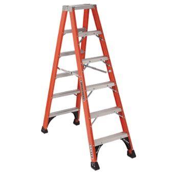 Louisville Hd Twin Front Fiberglass Ladder Fm1400 Series Step Ladders Ladder Telescopic Ladder