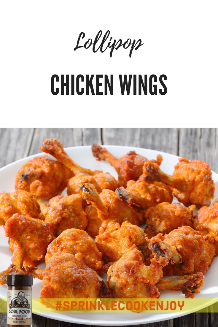 Lollipop Chicken Wings Soul Food Chicken Recipes Cooking Recipes