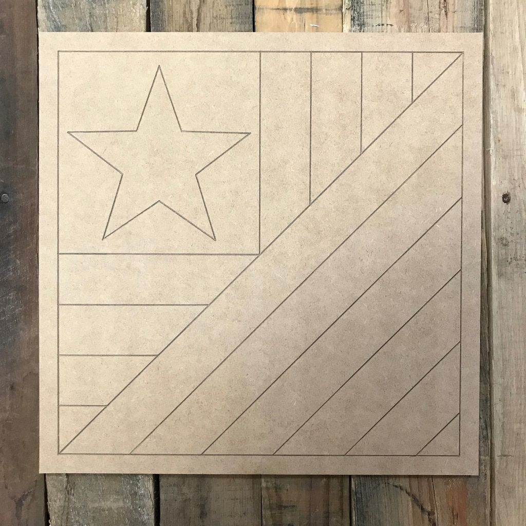 Quilt Pattern 9 American Flag Diy Unfinished Wood Cutout Paint By Line Quilts Patronen Patronen Quilt