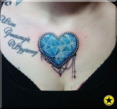 Serce Diament Tatuaż Tatuaże Pinterest