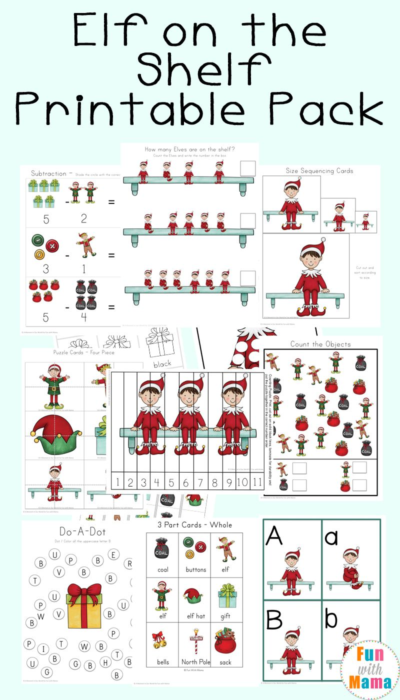 Free Elf on the Shelf Worksheets + Activities