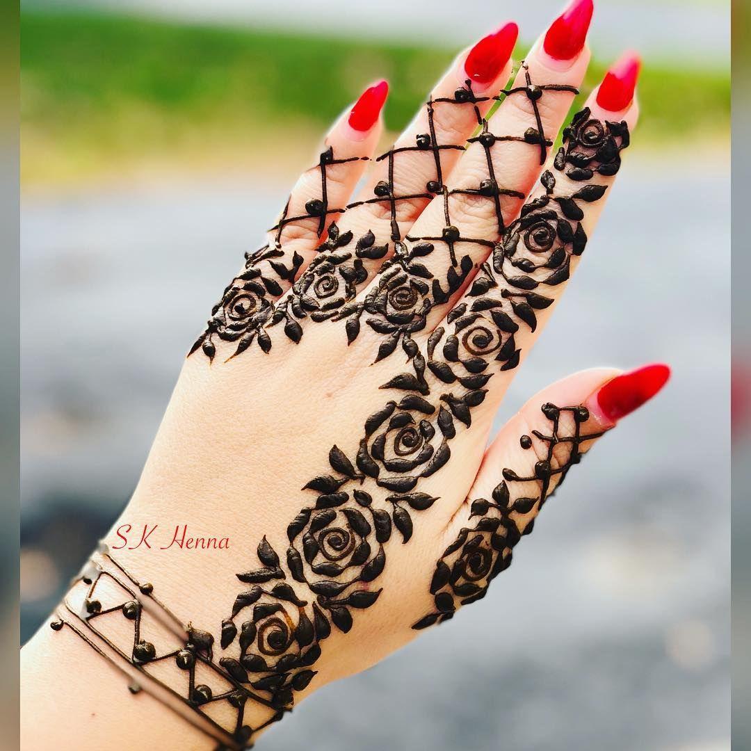 Henna unique beautiful art mehndi roses henna pinterest