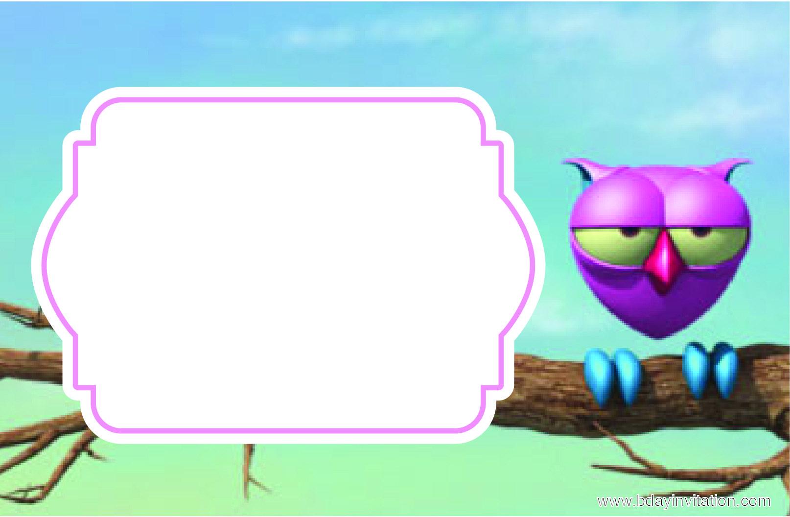Awesome FREE Printable Owl Birthday Invitation Template | FREE ...