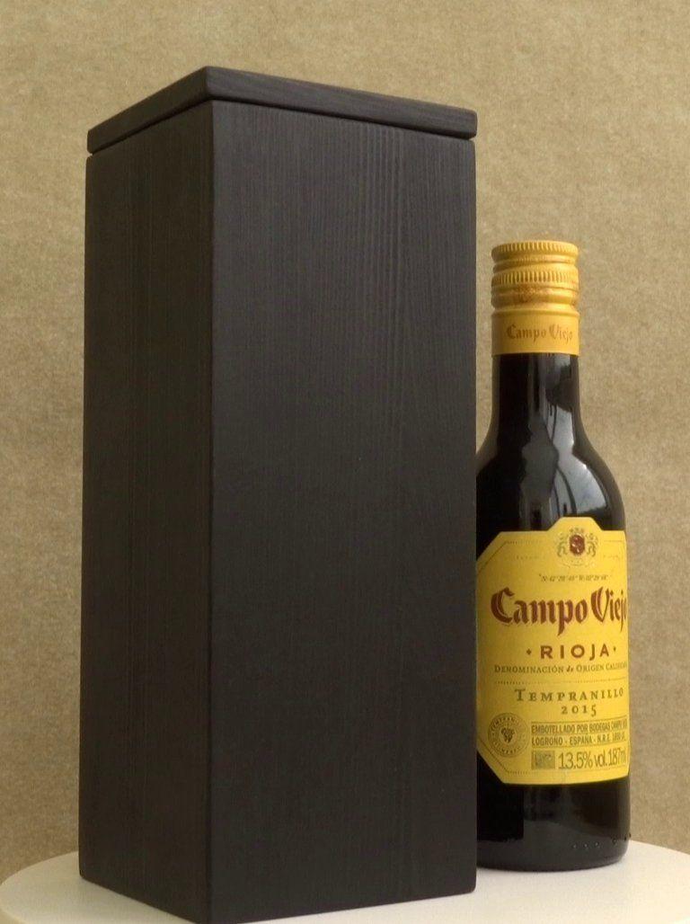 Small Gift Box Monogram Anniversary Wine Box Wedding Wine Box
