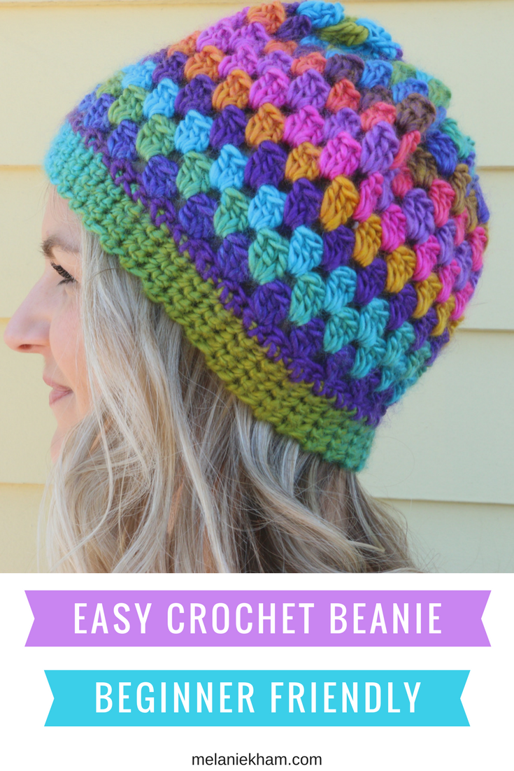 Easy Granny Cluster Crochet Beanie Hat Free Pattern And Video Tutorial Crochet Hat For Beginners Crochet Beanie Hat Free Pattern Crochet