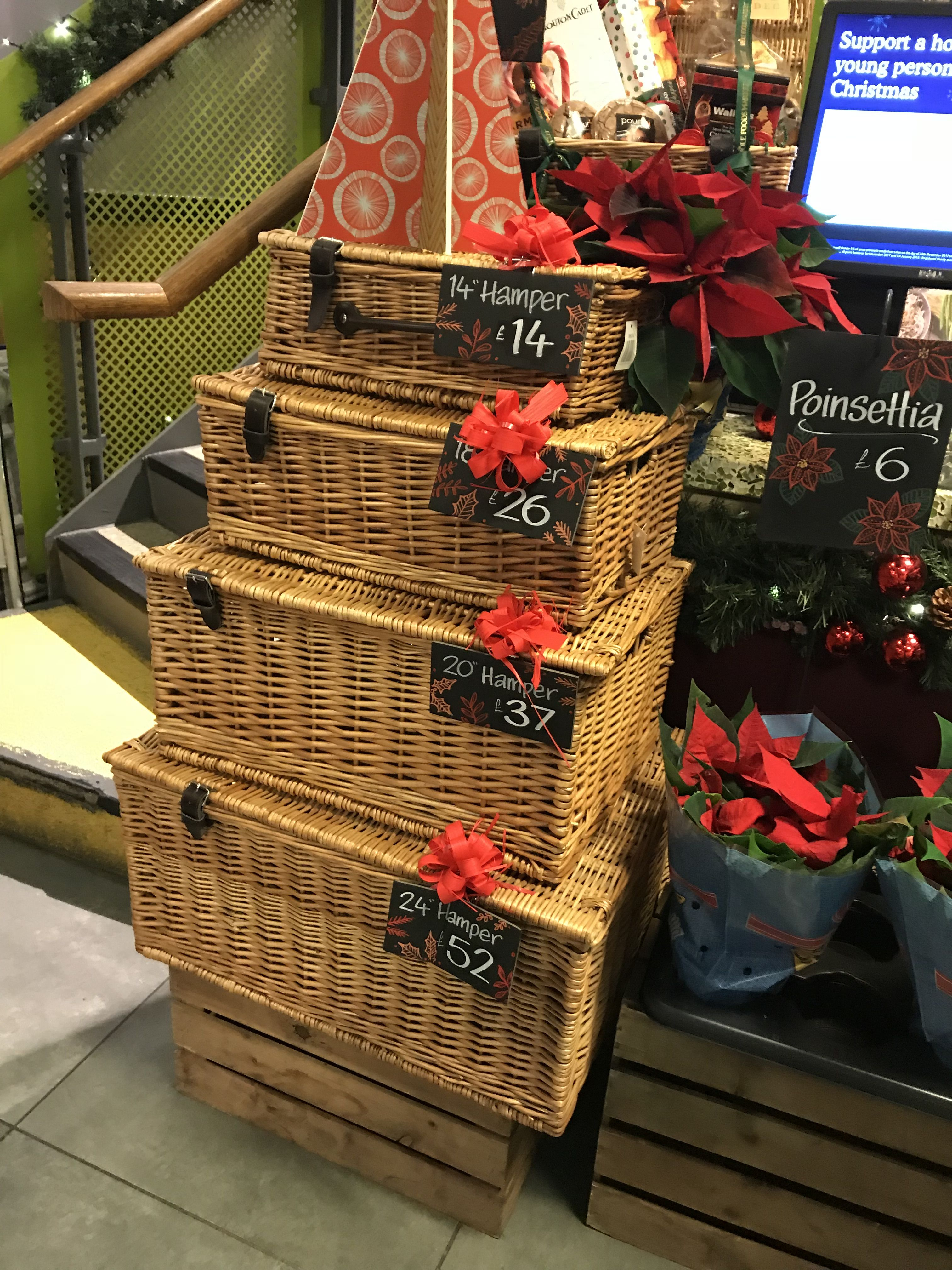 whole foods market wicker hamper nested set of wicker supplied by wbc gift packaging