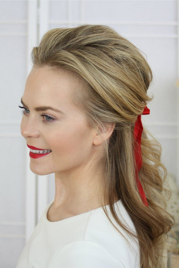 Half updo great looking hair pinterest half updo vintage