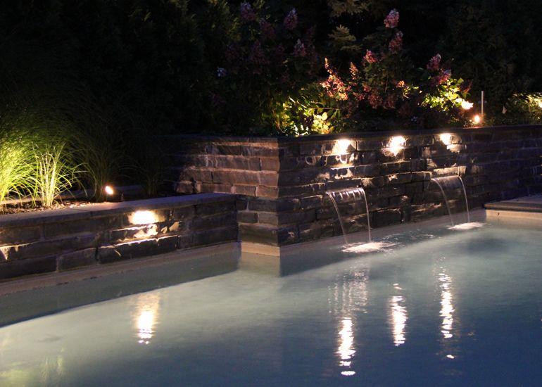 Am nagement paysager clairage d 39 ambiance ext rieur for Amenagement jardin paysager
