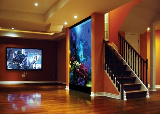 Imagine if that\u0027s a real saltwater fish tank? ACUARIOS Pinterest