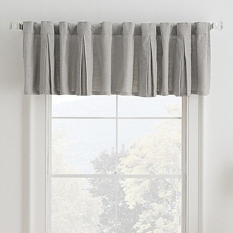Malta Inverted Pleat Window Valance in Grey